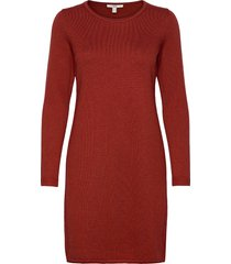 dresses flat knitted kort klänning orange edc by esprit