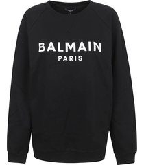 balmain printed logo sweatshirt - eco sustainable
