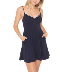 b darlin juniors' scalloped a-line dress