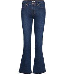 bootcut jeans utsvängda blå wrangler