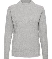 bynora jumper 2 - stickad tröja grå b.young
