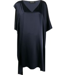 gianluca capannolo silk loose-fit dress - blue