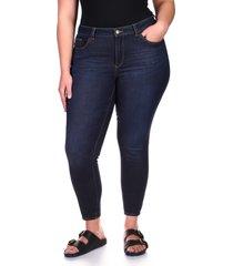 plus size women's dl1961 florence instasculpt high waist ankle skinny jeans, size 14w - blue