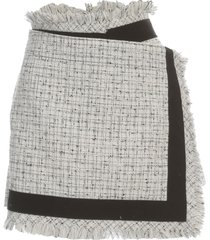 sacai summer tweed short skirt a line