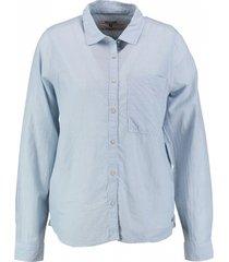 garcia soepele lichtblauwe katoenen blouse