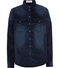camicia in velluto (blu) - john baner jeanswear