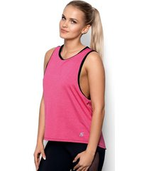 koszulka fit abel rozowo-czarna