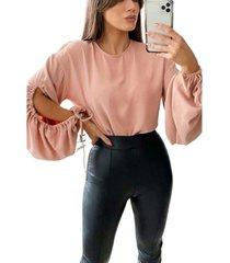 ax paris women's key hole sleeve blouse