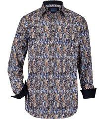 overhemd babista blauw::cognac
