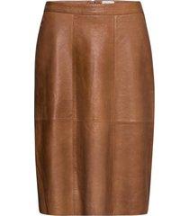 brittsz skirt below knee knälång kjol brun saint tropez