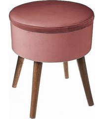 stołek welurowy pufa ze schowkiem dark powder
