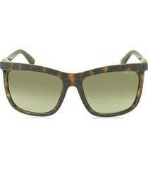 jimmy choo designer sunglasses, rea/s 791ha havana lizard acetate women's sunglasses