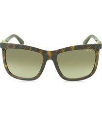 jimmy choo designer sunglasses, rea/s 791ha havana lizard acetate women's sunglasses