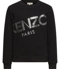 logo jg 22 sweat-shirt trui zwart kenzo