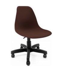 cadeira de escritório secretária eames preta e marrom