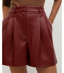 mango women's faux leather shorts