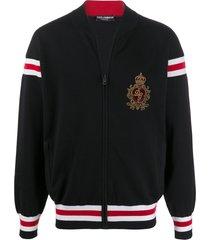 dolce & gabbana varsity bomber jacket - black
