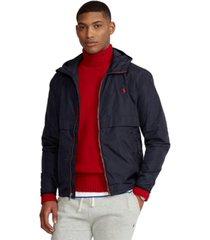 polo ralph lauren men's water-repellent hooded jacket