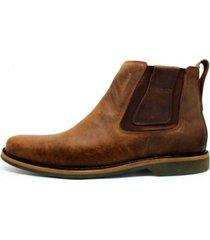bota botina cano curto em couro top franca shoes pinhão