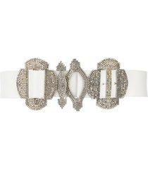 gianfranco ferré pre-owned 2000s crystal-embellished belt - white