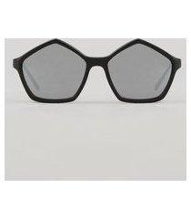 óculos de sol geométrico feminino oneself preto