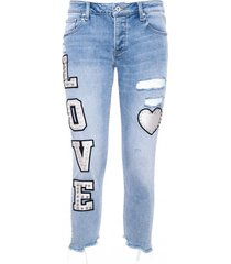jeans con stampa fp21sp5036d409p3