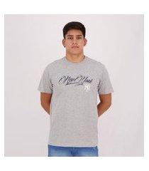camiseta new era mlb new york yankees letter cinza mescla