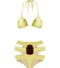 adriana degreas triangle bikini set - green