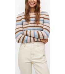 mango women's multi colored knit sweater