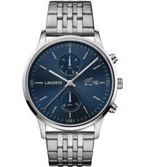 lacoste men's chronograph madrid stainless steel bracelet watch 43mm