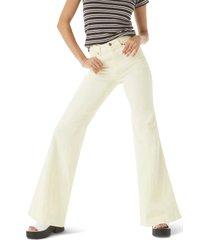 women's wrangler wanderer heritage flare high waist jeans, size 31 x - yellow