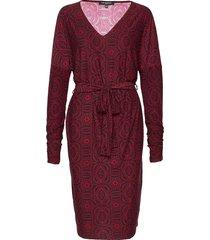 dress jurk knielengte rood ilse jacobsen