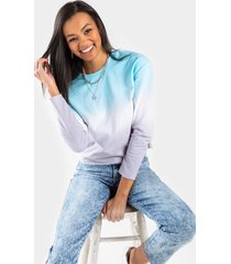 gianna ombre pullover - light blue