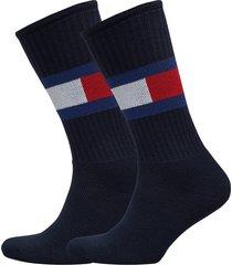 th flag 1p underwear socks regular socks blå tommy hilfiger