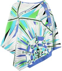 emilio pucci bes print beach cover-up - green