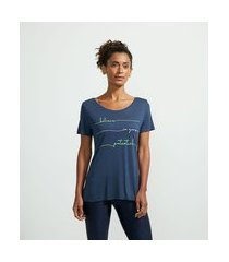 camiseta esportiva em viscose com frase motivacional | get over | azul | g