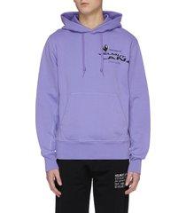 'helmut land® map standard' logo print hoodie