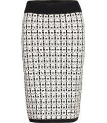 harper knitted skirt knälång kjol vit gina tricot