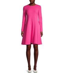 oscar de la renta women's fit & flare dress - spinel - size 8