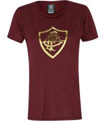 camiseta do fluminense bull 19 - feminina - vinho