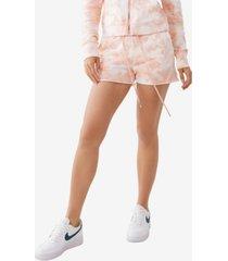 true religion women's knit pull on lounge shorts
