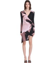 off-white gaither dress in black viscose