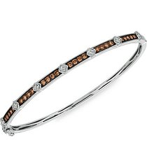 chocolatier® 14k vanilla gold®, chocolate diamonds® & vanilla diamonds® bangle