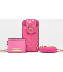 river island womens pink multi set pouch bags