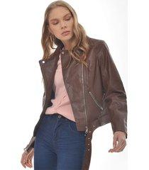 chaqueta para mujer en poliester cafe color café talla xs