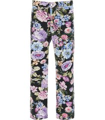 martine rose ronnie floral jeans