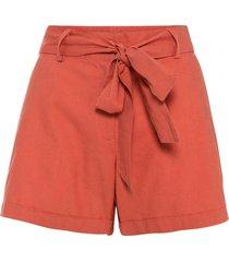 shorts in misto lino (rosso) - bodyflirt