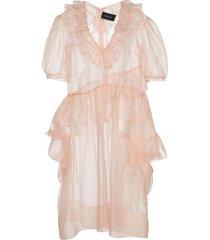 silk organza ruffle dress