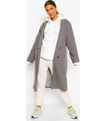 oversized nepwollen boyfriend jas, grey