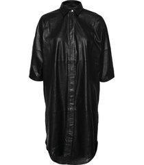 long shirt dress dresses shirt dresses zwart depeche